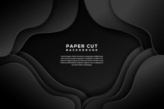 Corte de papel preto abstrato