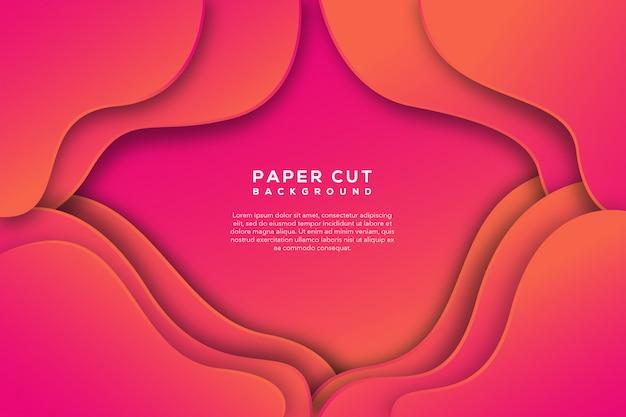 Corte de papel rosa abstrato