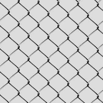 Corte de rede de aço realista