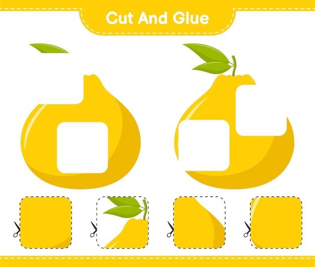 Corte e cole, corte partes de ugli e cole-as. jogo educativo para crianças, planilha para impressão