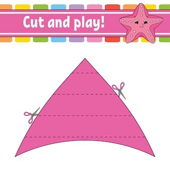 Corte e jogue. quebra-cabeça lógico para crianças.