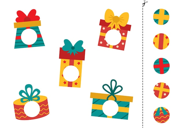 Corte partes de caixas de presentes