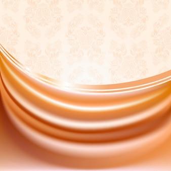 Cortina cor de pêssego