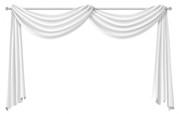 Cortina de cortina para janela larga