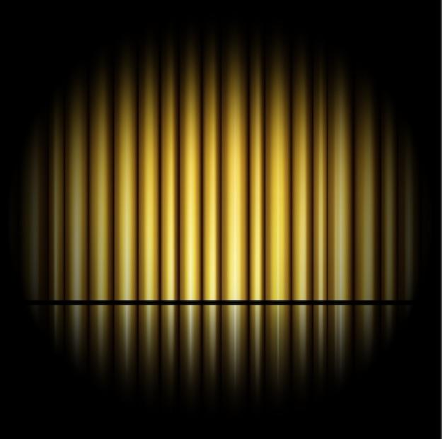 Cortina de fundo dourado