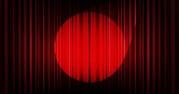 Cortina de fundo vector vermelho escuro com luz de palco