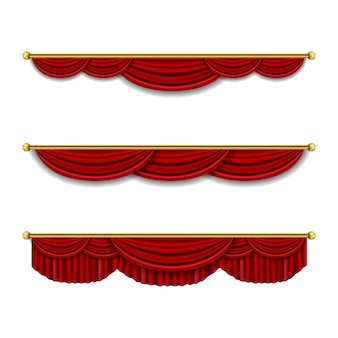 Cortina de luxo realista decoração de cornija em tecido doméstico cortinas em tecido lambrequim