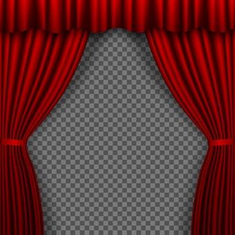 Cortina de palco vermelha