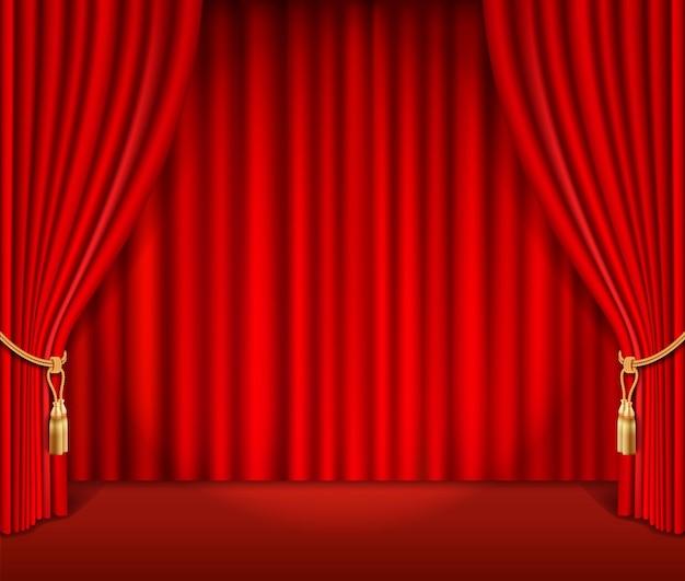 Cortina teatral vermelha