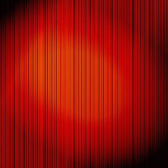 Cortina vermelha na ilustração de teatro