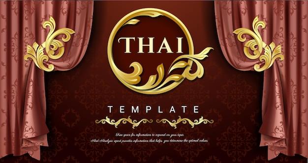 Cortinas de luxo conceito tradicional tailandês as artes de thailan