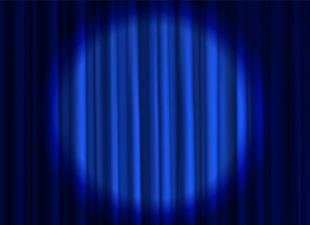 Cortinas fechadas elegantes de seda de luxo em tecido teatral ou cinema