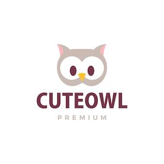 Coruja bonita logotipo icon ilustração