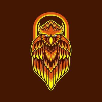 Coruja de logotipo mascote