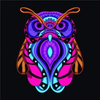 Coruja decorativa brilhante