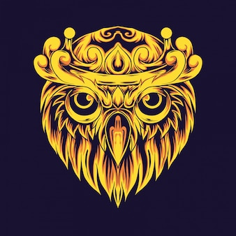 Coruja dourada