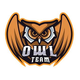 Coruja e esporte logotipo