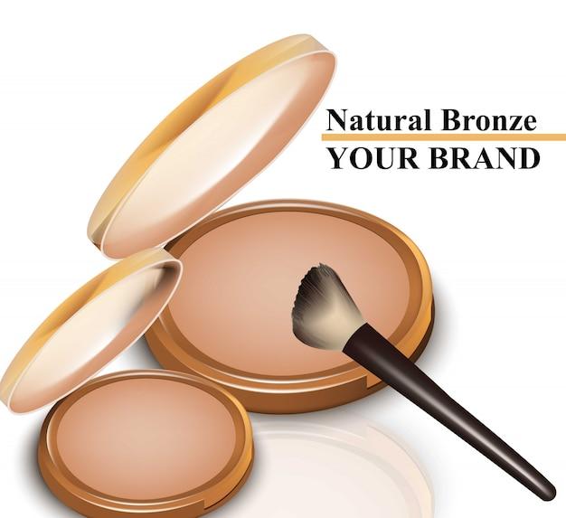 Cosméticos de coroa de bronze natural isolados no branco vector