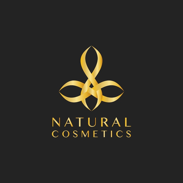 Cosméticos naturais design logotipo vector