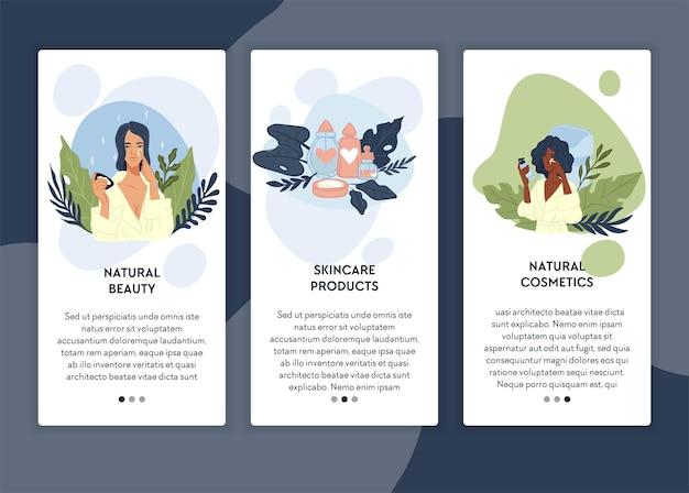 Cosméticos orgânicos para saúde e beleza facial