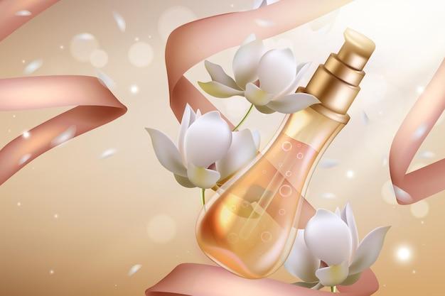Cosméticos perfume de flor de laranjeira