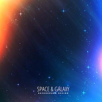 Cosmos ilumina o fundo universo