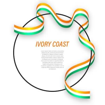 Costa do marfim 3d com bandeira nacional.