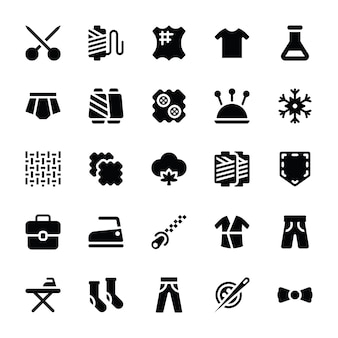 Costura e costura de ícones sólidos