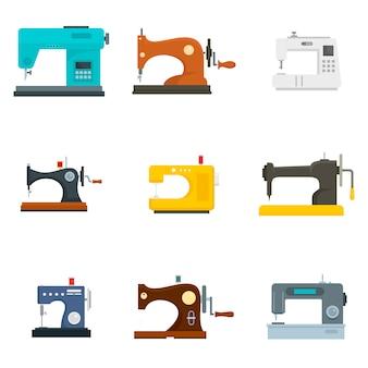 Costurar conjunto de ícones de máquina