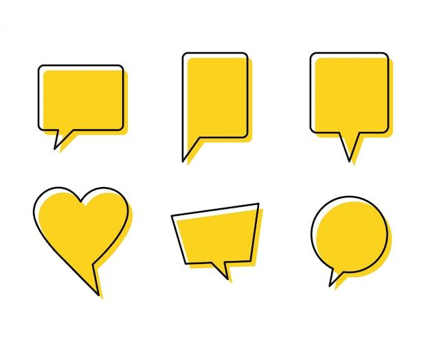 Cotações bolhas de comunicação