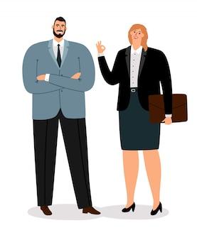 Coulpe de empresários em branco