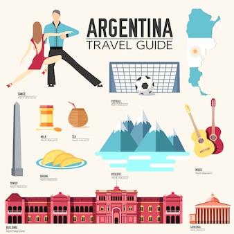 Country argentina viagem guia de férias de mercadorias