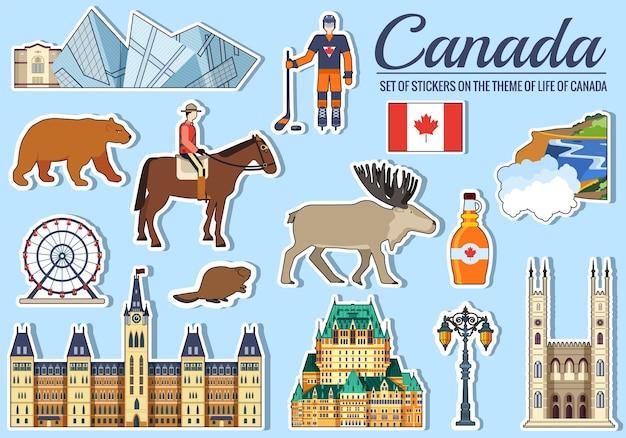 Country canada viagem guia de férias de mercadorias