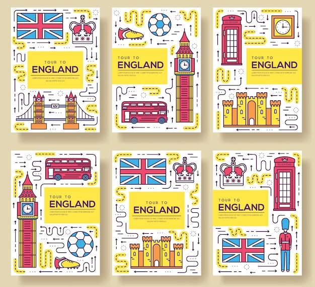 Country england viagem guia de férias de mercadorias