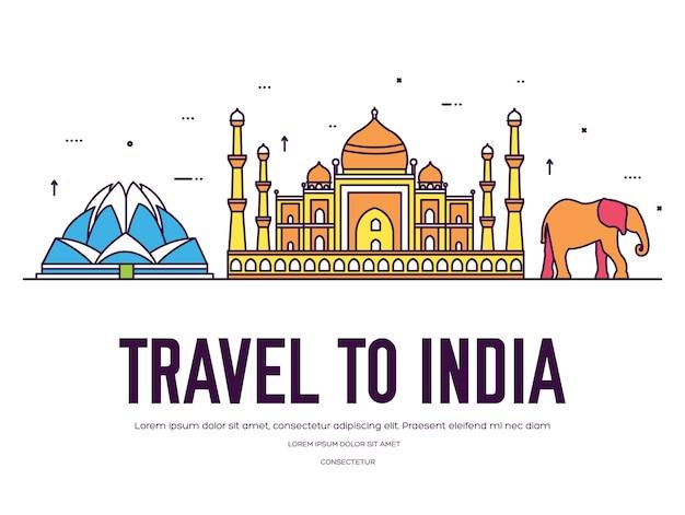 Country india viagem férias de lugar e recursos