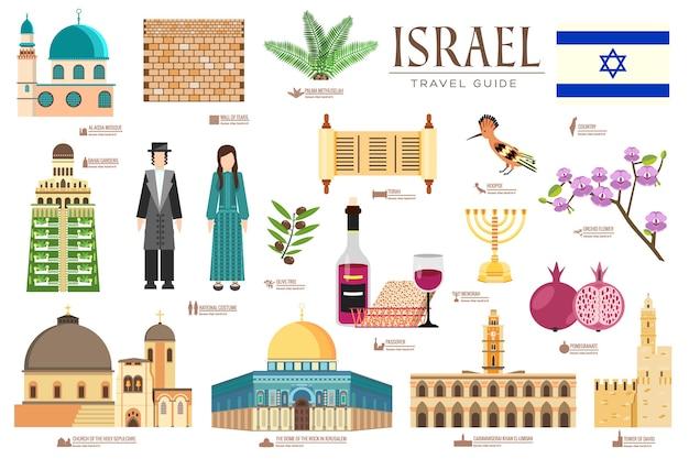 Country israel viagem guia de férias de mercadorias