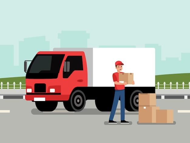 Courier com o pacote