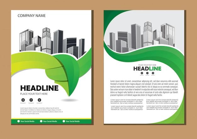 Cover brochure brochura relatório anual de layout Vetor Premium