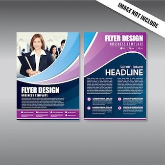Cover design folheto e brochura modelo de negócio