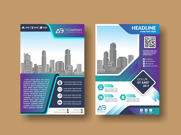 Cover template a4 size design de brochura comercial