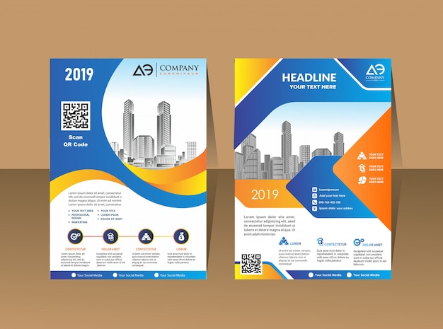Cover template a4 size design de brochura comercial