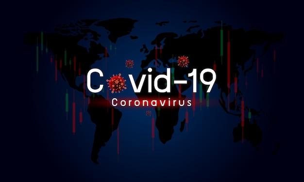 Covid-19 ou coronavirus afeta a economia global mercado de ações