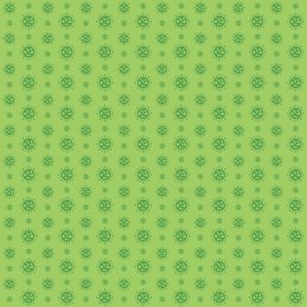 Covid 19 padrão de coronavírus verde