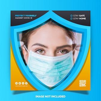 Covid-19 proteção contra coronavírus social media instagram
