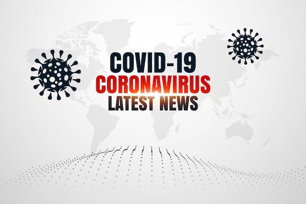 Covid19 coronavirus últimas notícias e atualizações de plano de fundo