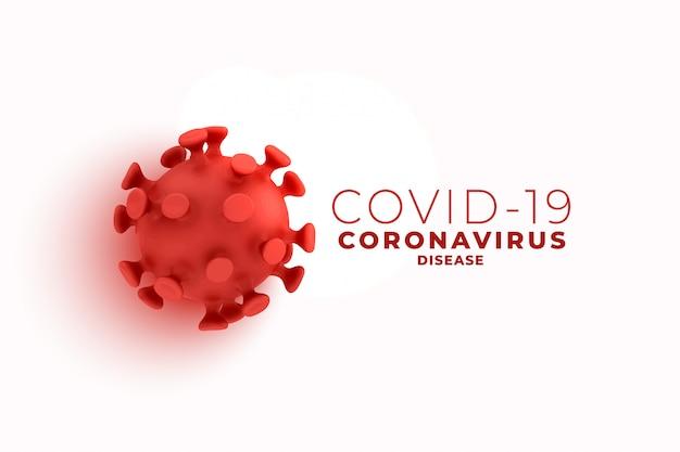 Covid19 fundo de coronavírus com design de célula 3d