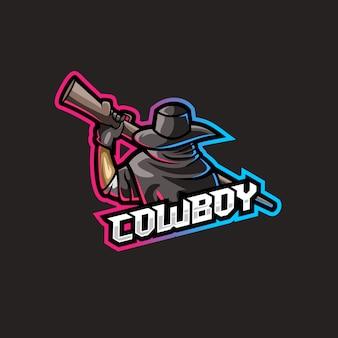 Cowboy com ilustração de arma