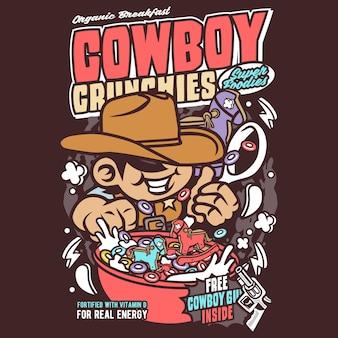 Cowboy crunchies cartoon