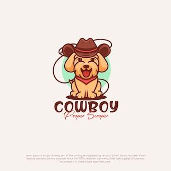 Cowboy dog cute logo