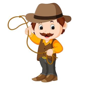Cowboy engraçado dos desenhos animados
